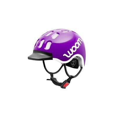 Woom KIDS Helm lila Größe XS 46 – 50 cm Kinder Fahrrad Kopf Schutz Sicherheit