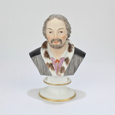 Antique Meissen Bisque Bust of Michelangelo - Biscuit Porcelain U 19 PC