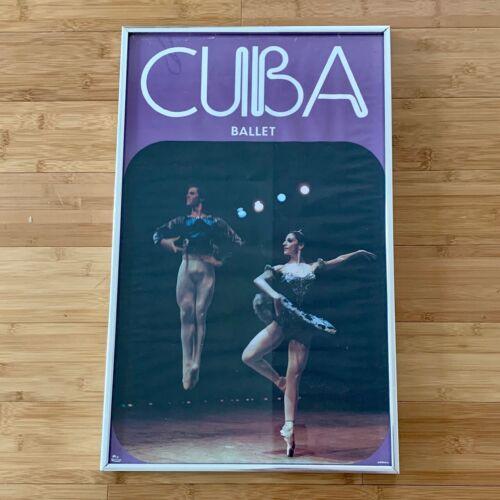 Vintage JOSEFINA MENDEZ & JORGE ESQUIVEL BALLET CUBA Cuban POSTER 1970s Framed