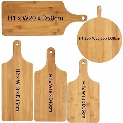 Paddle Wooden Chopping Board, Bamboo Food Cutting Slicing Hanging Board Bamboo Paddle Board