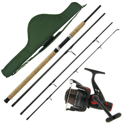 Travel 4 Piece 9ft Fishing Rod & Reel Setup Holdall Carryall For holiday Kit NGT