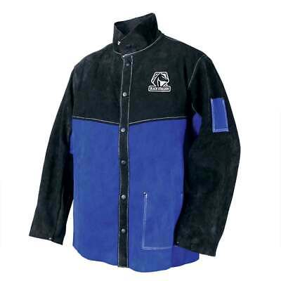 Black Stallion Jl1030-bb Color Block Leather Welding Jacket Large