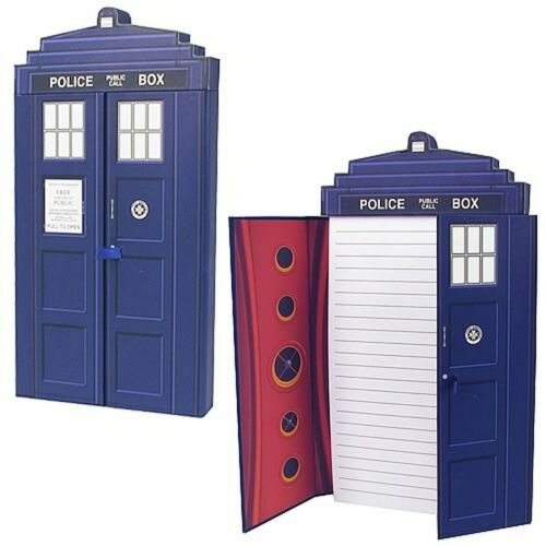 Doctor Who TARDIS Deluxe Journal Notebook, 160 lined white pages
