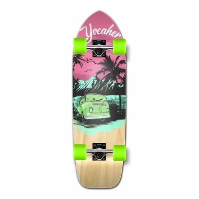 Old School Longboard Complete -VW Series - Pink N' Mint (Longboard Series)