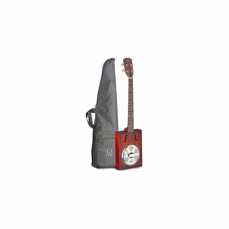 James Neligan Cask-Puncheon - 4-saitige Cigar Box Resonator Guitar Incl. Bag