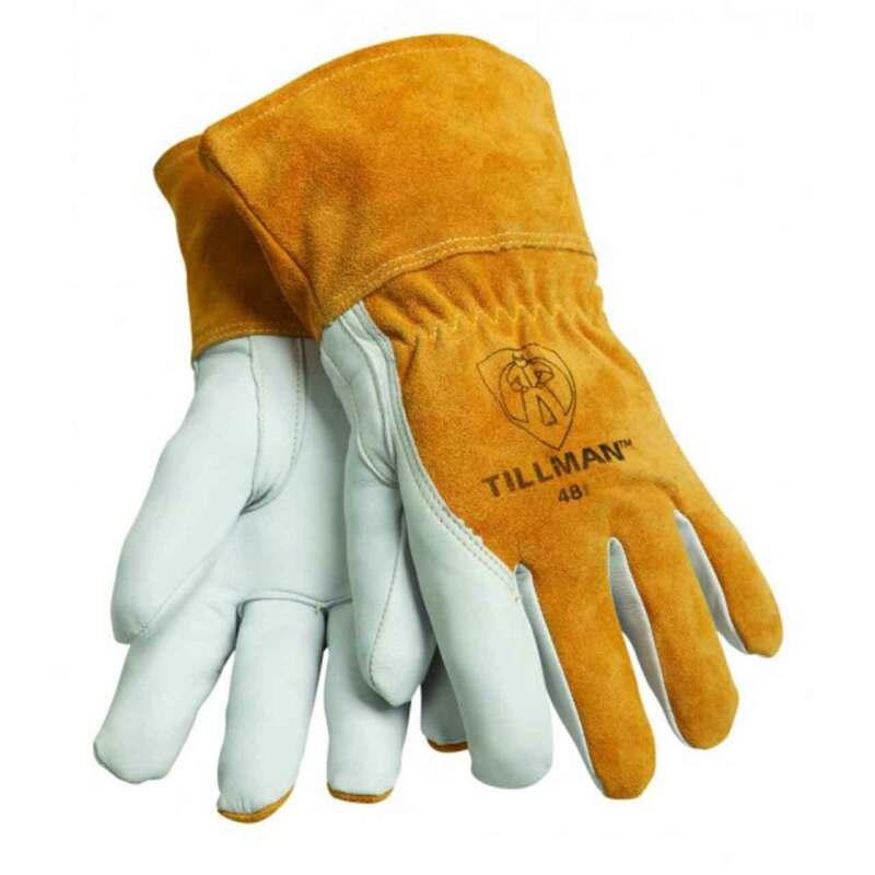 Tillman 48 Top Grain Goatskin/Cowhide Fleece Lined MIG Welding Gloves, Large