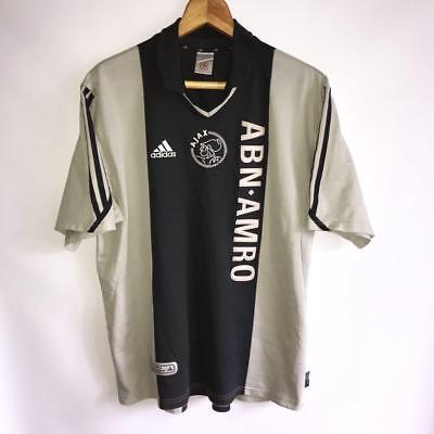 RARE AJAX AMSTERDAM AWAY 2001/02 ORIGINAL FOOTBALL SHIRT JERSEY ADIDAS/SIZE L image