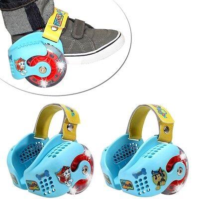 Paw Patrol Led Light-Up Heel Wheel Roller Skates Adjustable for Shoes Kids WLM8  - Lights For Roller Skates