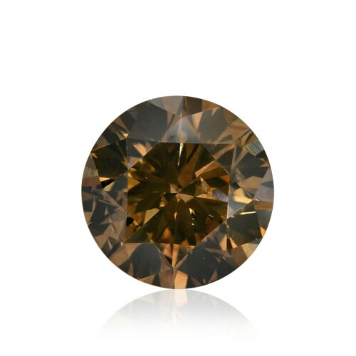 2.57Cts Fancy Dark Orangy Brown Loose Diamond Natural Color Round Cut GIA Cert