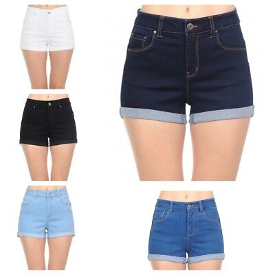 Wax Jeans Women's Juniors  Push Up Denim Shorts (BUTT I  LOVE YOU)( S-L)#90125