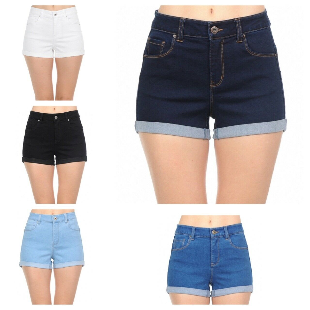 Wax Jeans Women's Juniors  Push Up Denim Shorts #90125