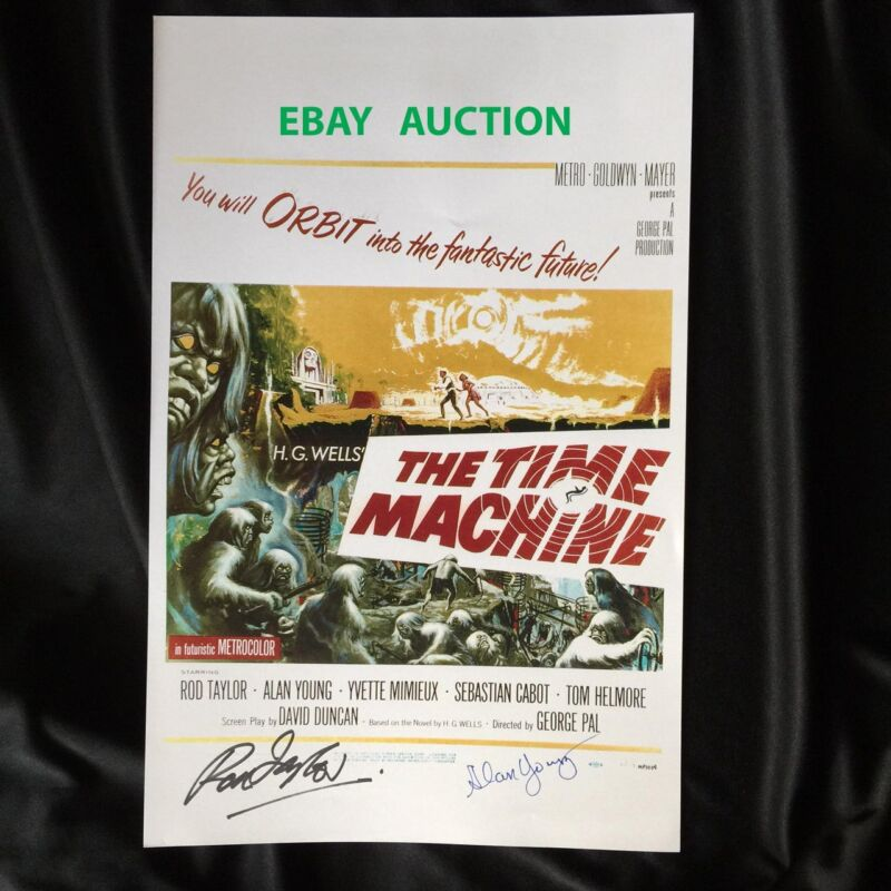 TheTime Machine 11x17 Mini Poster Signed by Rod Taylor & Alan Young w/ Photo COA