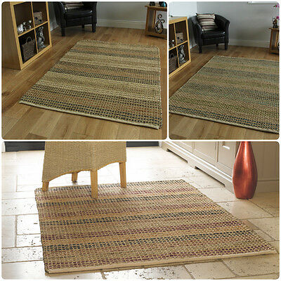 Natural Living Seagrass Woven Texture Rug in 3 Colours in Various Sizes Carpet (Texture Sisal Rug)