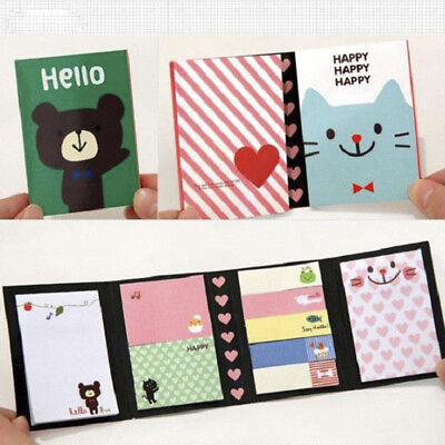 Lovely Cute Animals Sticker Bookmark Marker Memo Flags Sticky Notes Useful E99