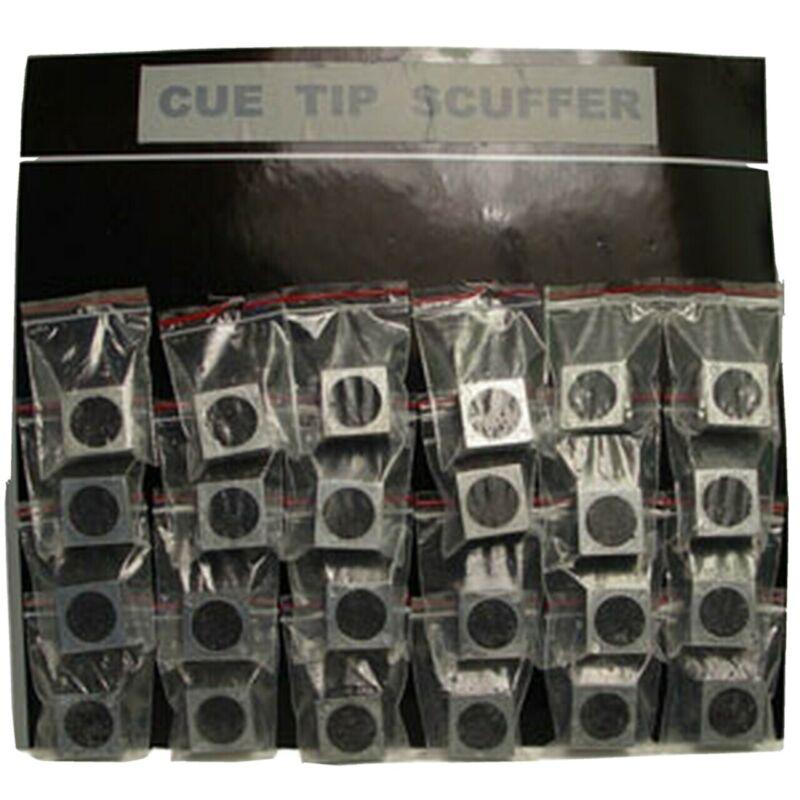 Aluminum Cue Tip Scuffers, Card of 24
