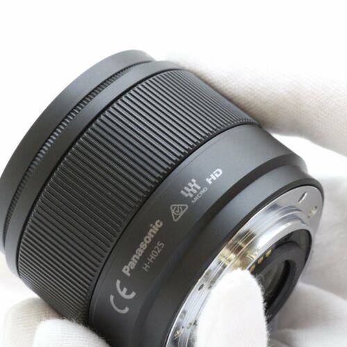Panasonic Lumix G 25mm f/1.7 Lens ASPH.H-H025E-K F1.7 Black UK  Bulk Box