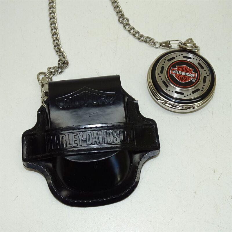 Franklin Mint Harley-Davidson Motorcycles Heritage Softail Pocket Watch in Case