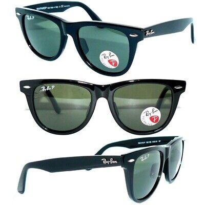 Ray Ban 2140 Sonnenbrille SCHWARZ POLARISIERT 901/58 WAYFARER  54mm RB 2132 NEU