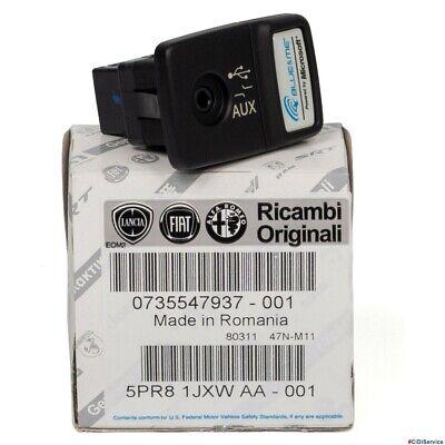 735547937 Connessione Blue & Me Presa USB AUX Originale Fiat 500 Panda...