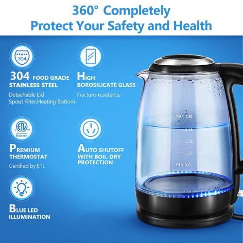 Electric Water Heating Teapot Cooker Kettle Milk Boiler Coff