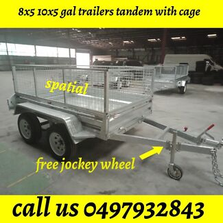 8x5 Galvanised TANDEM TRAILERS WITH FOLD DOWN RAMP 2000KGS ATM Springvale Greater Dandenong Preview