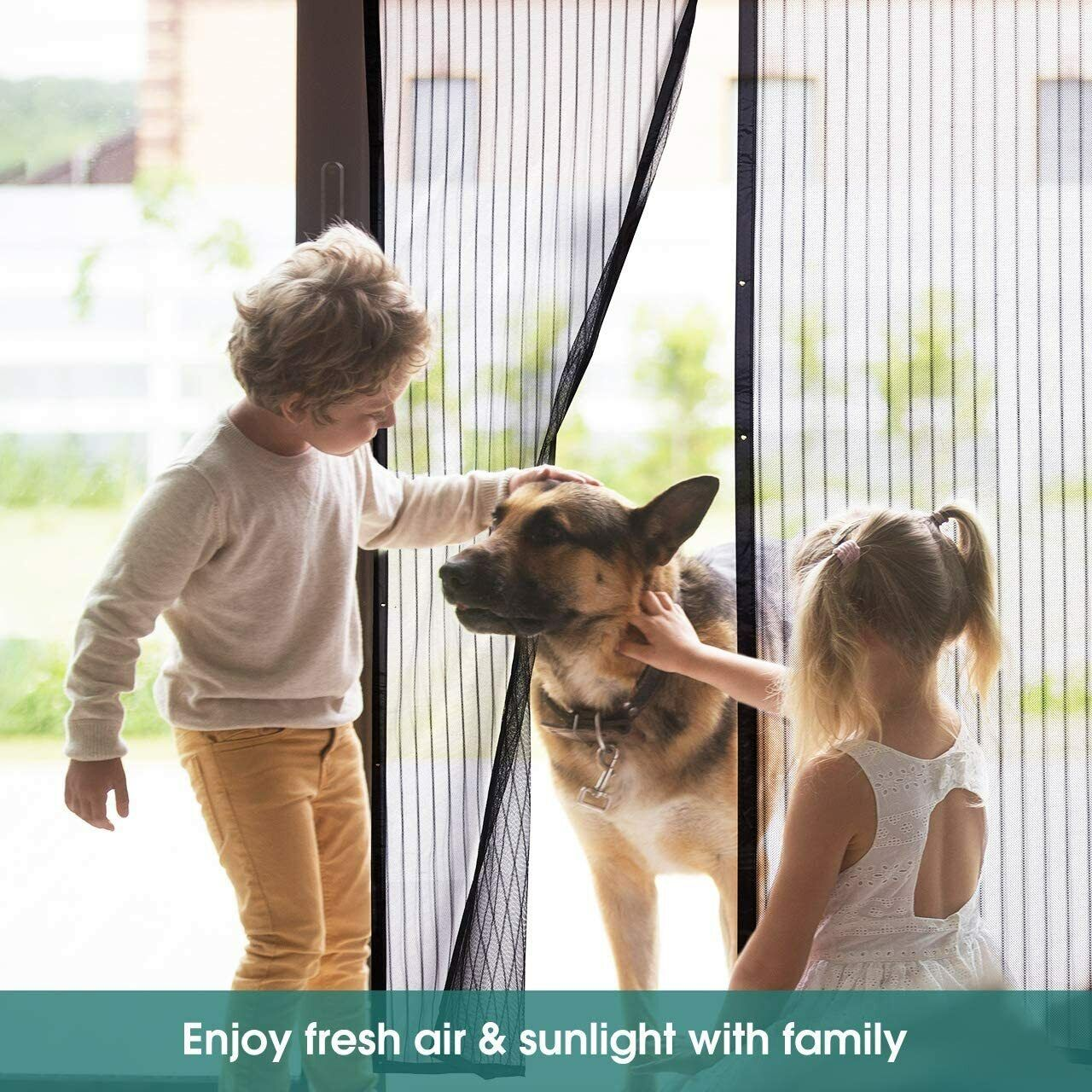 Magnetic Screen Door Mesh Hands-Free Net Mosquito Fly Insect Bug Curtain Closer 9