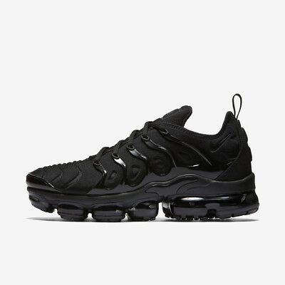 NIKE AIR VAPORMAX PLUS 924453-004 TRIPLE BLACK BLACK DARK GREY