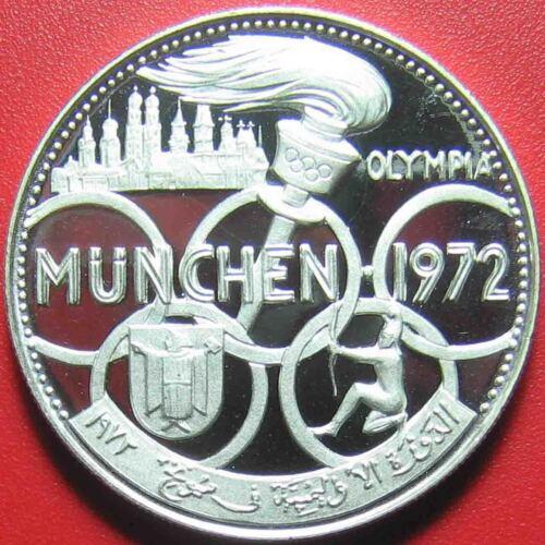 1970 FUJAIRAH 5 RIYALS SILVER PROOF 1972 MUNICH OLYMPICS RARE MINT=1,300 COINS!