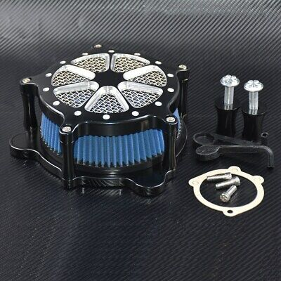 CNC Air Cleaner Intake Filter For Harley Touring Road king FLHTC FLHT 08-16 BS