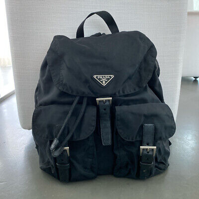 Vintage prada black nylon backpack