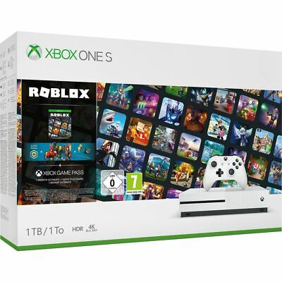 Xbox One S 1TB with Roblox, 3 Roblox Avatar Bundles and 1 Month Game Pass White