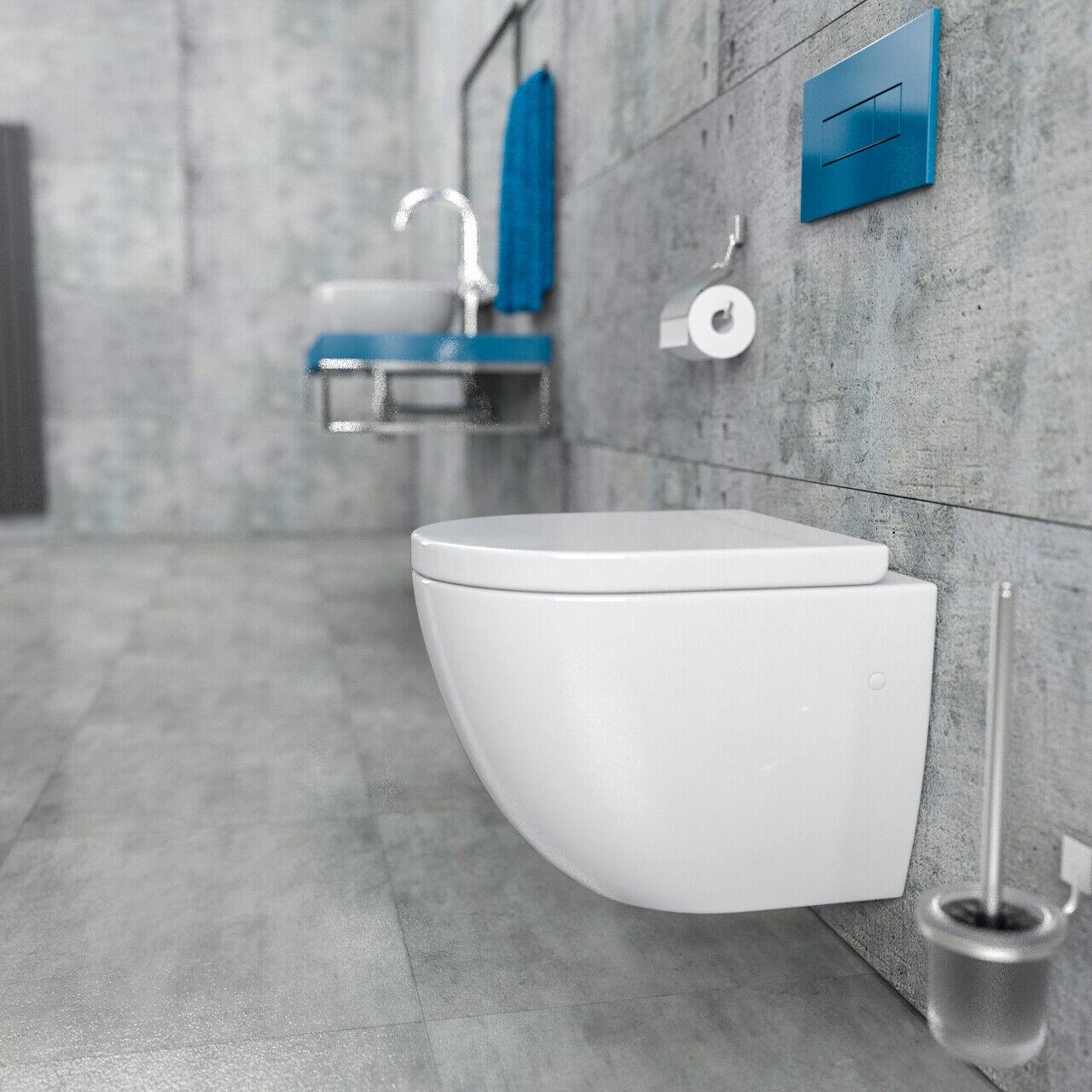 Spülrandloses Wand Hänge WC Toilette KB76-1-M Randlos kurze Ausführung 48cm