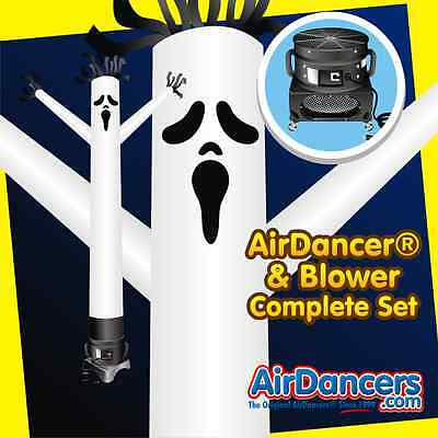 20ft Spooky Halloween Ghost AirDancer® & Blower Complete Air Dancer Set](Air Dancers Halloween)