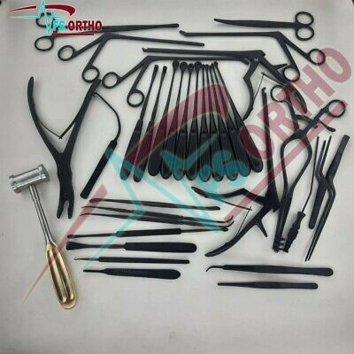 Laminectomy Set 35 Pcs Black Coated Surgical Orthopedic Surgical Instruments