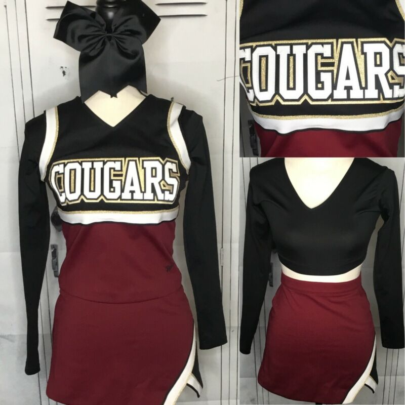 Real Cheerleading Uniform High School XS Cougars