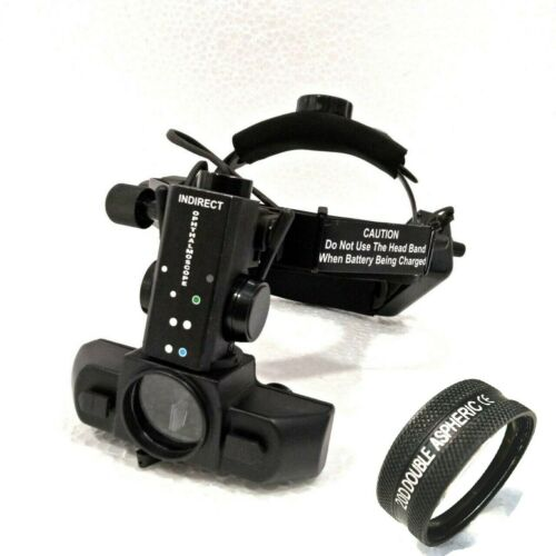Free Shipping Indirect Ophthalmoscope With 20 D Lens & Case With Accessories