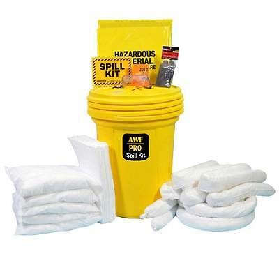 30 Gallon Spill Kit - 30 Gallon Oil Only Spill Kit, Pro Grade, 75 Pieces: Pads, Pillows, & Socks