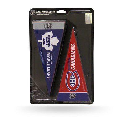 NHL Mini Pennant Set Complete Hockey Teams 4'' x 9'' Felt - Hockey Teams Nhl
