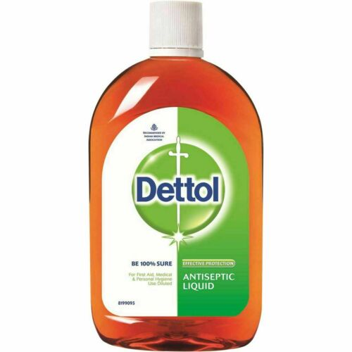 2 x 550ml Dettol Antiseptic Anti bacterial Liquid Kills Germs First Aid Hygiene