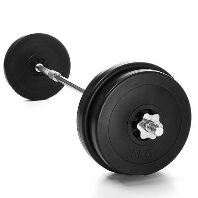 Langhantel 30kg Set Hantel Scheiben Langhantelstange Hanteln Gewichte NEU