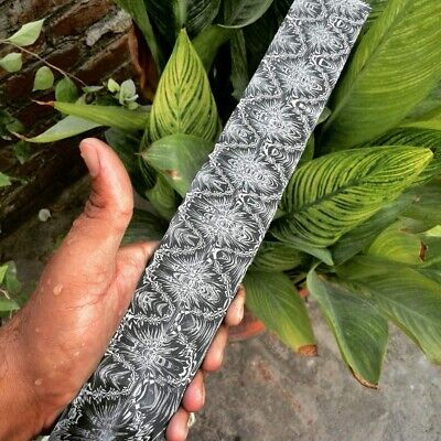 CUSTOM 100% HAND FORGED BEST QUALITY UNIQUE DAMASCUS PATTERN BLANK BAR FOR