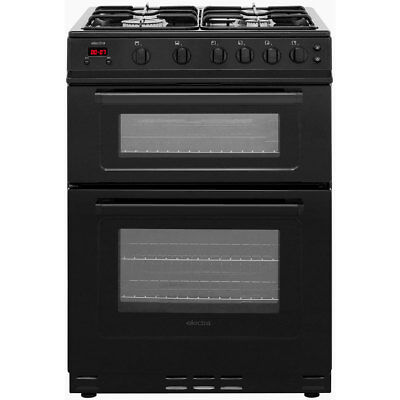 Electra TG60B A+ Gas Cooker with Gas Hob 60cm Free Standing Black New