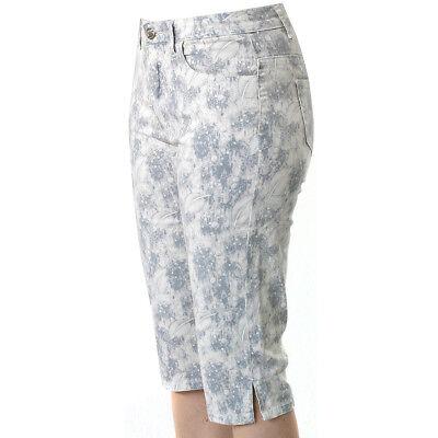Damen Hose Melody Capri mit Lycra Allover Print von Jet-Line Strecht Hose kurz Lycra Capri Hose
