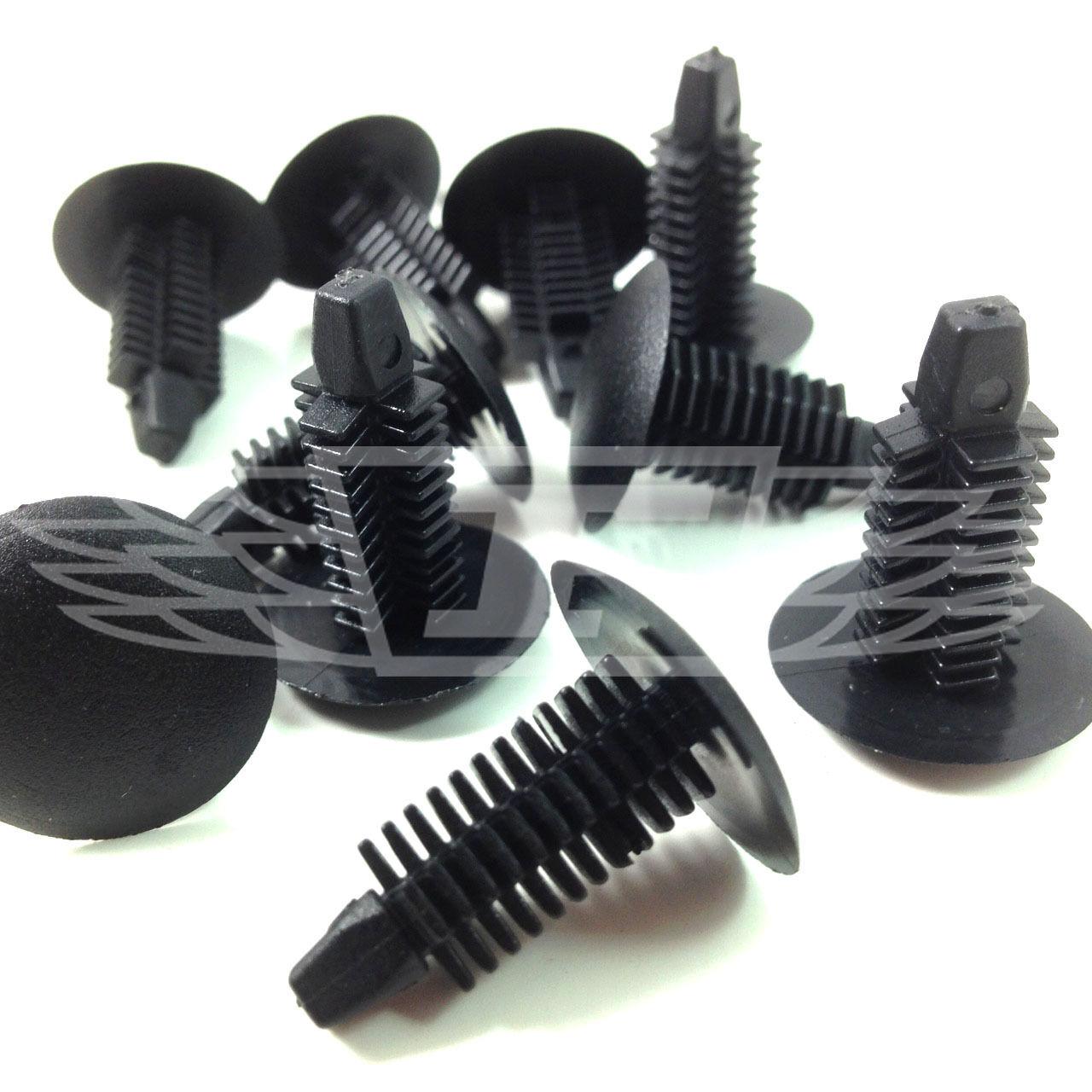 0640 FIR TREE BUTTONS SPRUCE DOOR ROOF BUMPER PUSH TYPE CLIPS 10.5mm BLACK