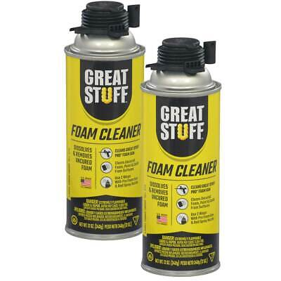 Dow Great Stuff Pro Foam Gun Applicator Cleaner 12 Oz Can Pack Of 2 Cans