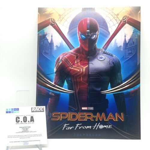 Tom Holland Signed Spiderman 11x14 PHOTO AFTAL OnlineCOA