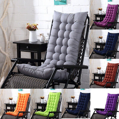 US Chair Cushion Tufted Deck Chaise Padding For Outdoor Patio Pool Recliner A4 ()