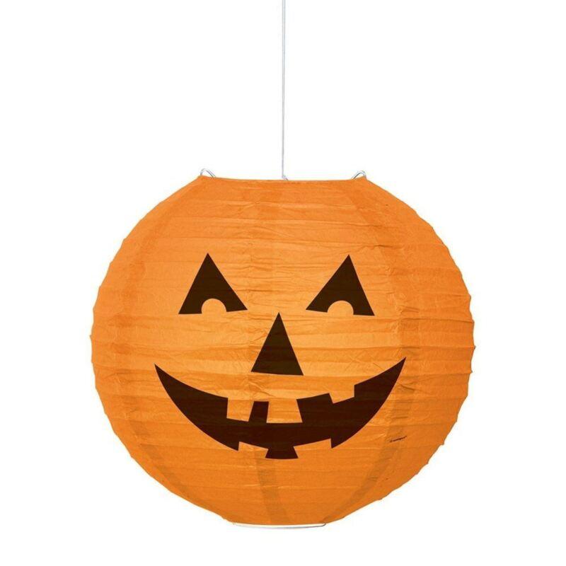 """Round Pumpkin Paper Lantern Halloween Orange 10"""""""
