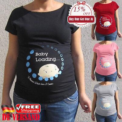 Mode Umstandstop Umstandsmode Schwangerschaft Baby Printed Sommer Umstandsshirt (4xl Umstandsmode)