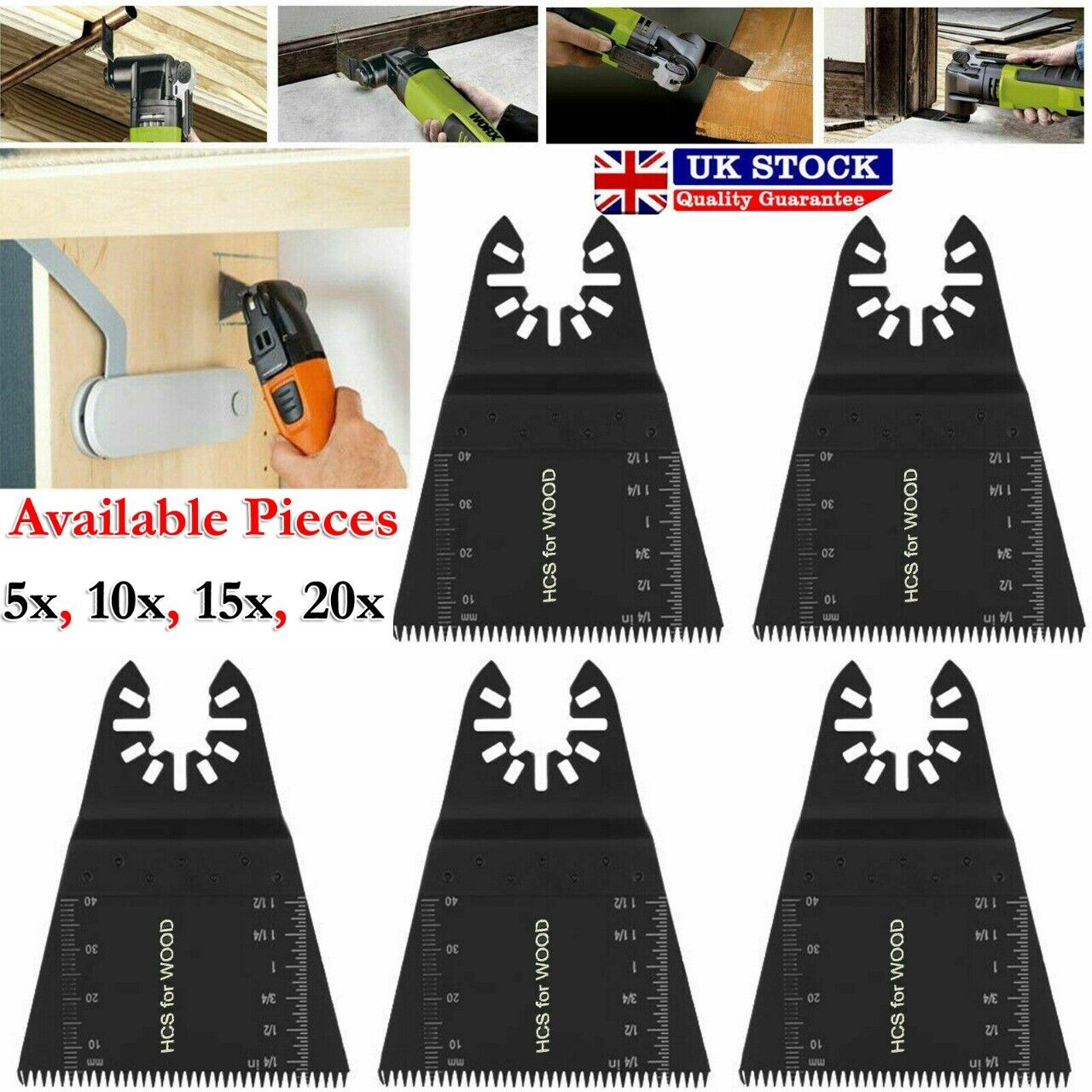 5x 35MM Oscillating Multi Tool Saw Blade For Wood For Fein Multimaster Makita A
